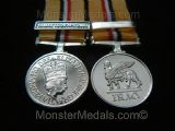 MINIATURE IRAQ WAR MEDAL WITH CLASP 19 MAR 28 APR 2003